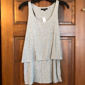 Gray double layer tank top. NWT